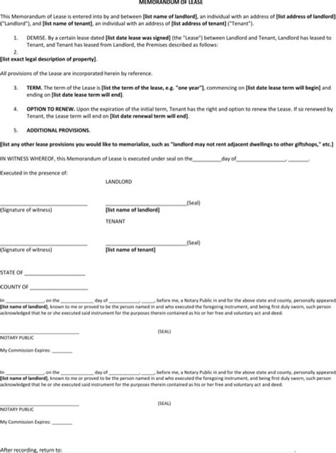 Structured Contract Guidance Letter lease rent notice for free formtemplate