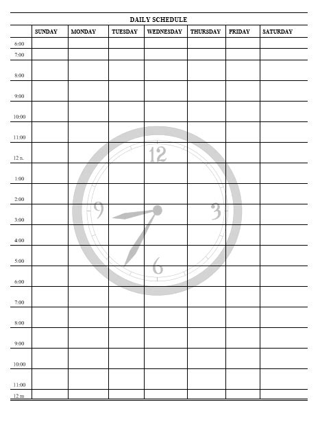 daily shift schedule template daily shift schedule template free printable word templates