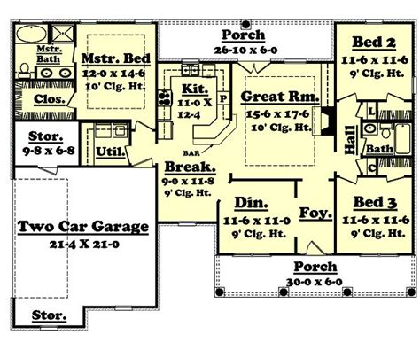 1600 Sq Foot House Plans 1600 Square 3 Bedrooms 2 Batrooms 2 Parking Space On 1 Levels House Plan 52 All