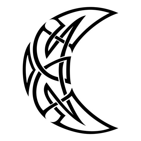 celtic moon tattoo designs 32 moon designs