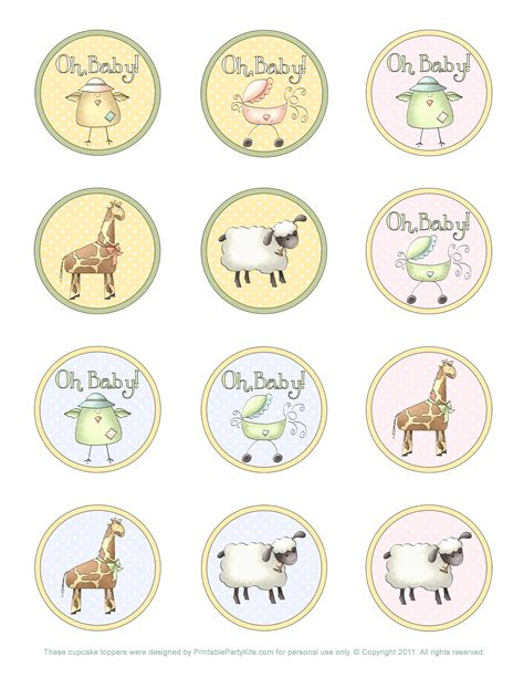 Baby Shower Topper by Free Printable Safari Baby Shower Cupcake Toppers Baby