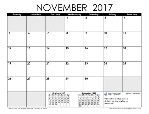 printable calendar november 2017 with notes free printable calendar printable monthly calendars