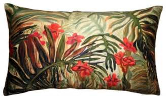 pillow decor jungle of ferns 12 x 20 throw pillow