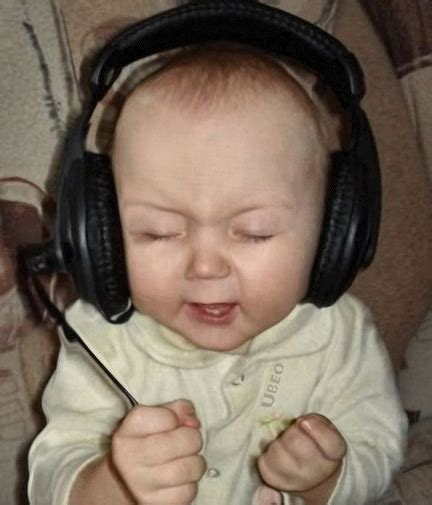 Baby Headphones Meme - cute baby rockin out with headphones gifs pinterest