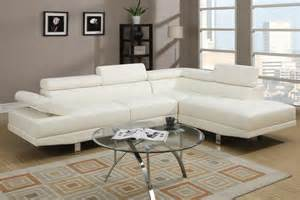 Home best sellers modern cream white faux leather sectional sofa