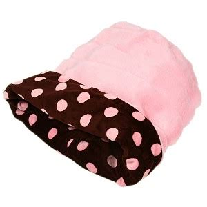 cuddle cup dog bed cuddle cup dog bed by susan lanci chocolate and pink polka dots at glamourmutt com