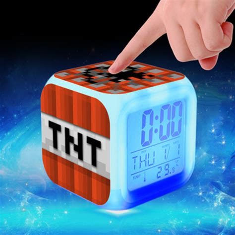 aliexpress buy minecraft tnt digital alarm clock led