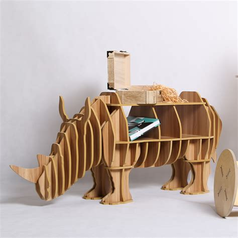 wood craft rhinoceros desk rhinoceros coffee table wooden