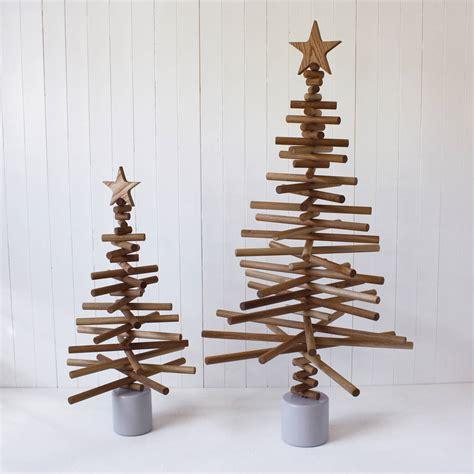 oak christmas tree by a b furniture notonthehighstreet com