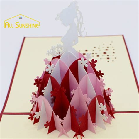 3d origami card get cheap handmade birthday card aliexpress