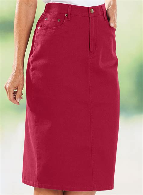 colored denim skirts bend 174 colored denim skirt amerimark