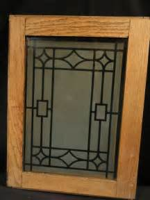 Glass Panels Kitchen Cabinet Doors Antique Oak Cabinet Doors With Deco Design Etched Glass Panel