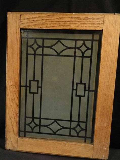 glass panels for cabinet doors antique oak cabinet doors with deco design etched glass panel