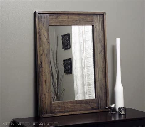 wood mirrors bathroom modern rustic wood mirror distressed barn bathroom by