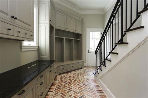 room flooring brick herringbone floor transitional laundry room har