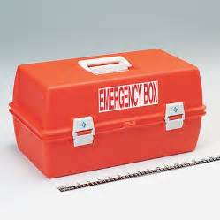 Pvc Bench Emergency Box Label