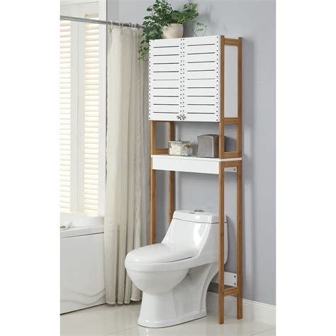 Bathroom Saving Space Furniture Design By Using Over The Bathroom Toilet Storage