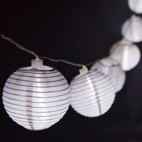 solar lightswhite nylon solar lantern patio string