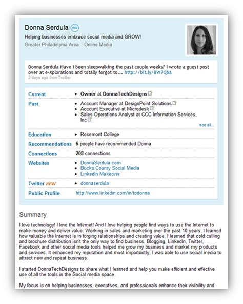 printable version of linkedin profile how the linkedin profile has changed over the years