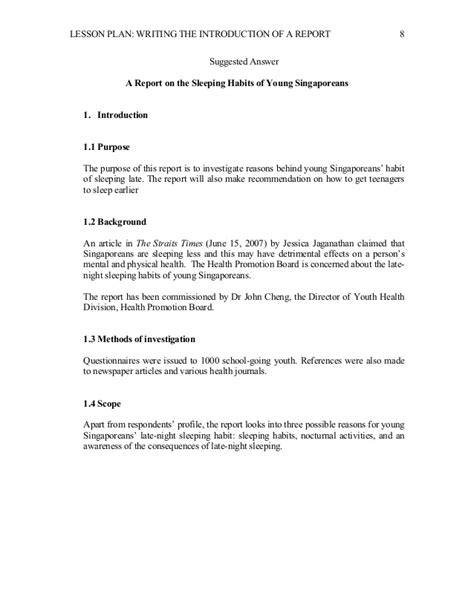 book report lesson plan report writing template for grade 3 grade 7 level 4
