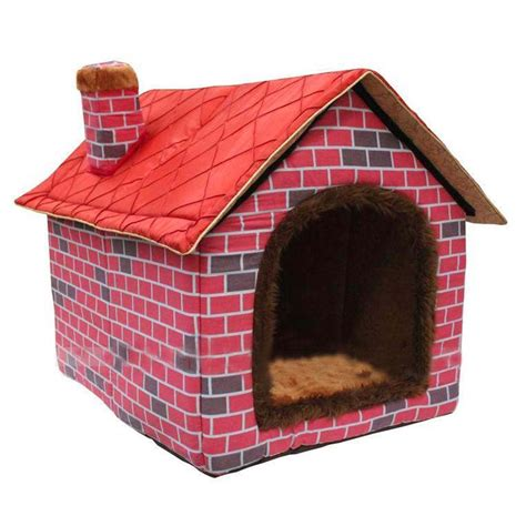 red dog house culon warm indoor soft kennel pet big dog house red