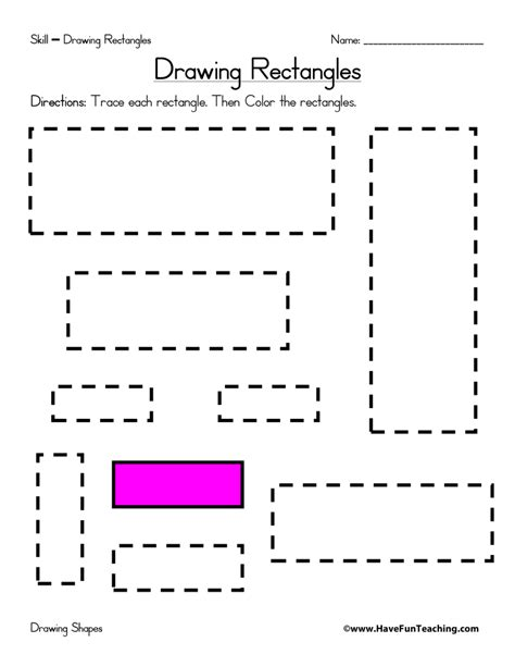 Rectangle Worksheet by Drawing Rectangles Worksheet