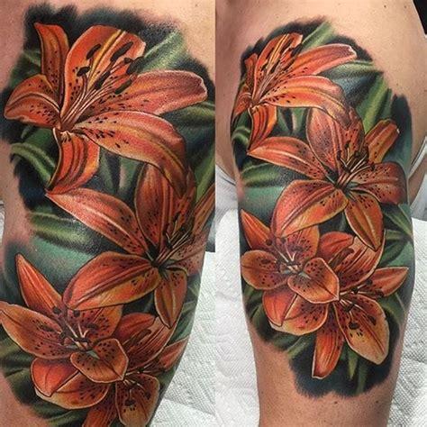 tattoo tiger flower 10 tasteful tiger lily tattoos tattoodo