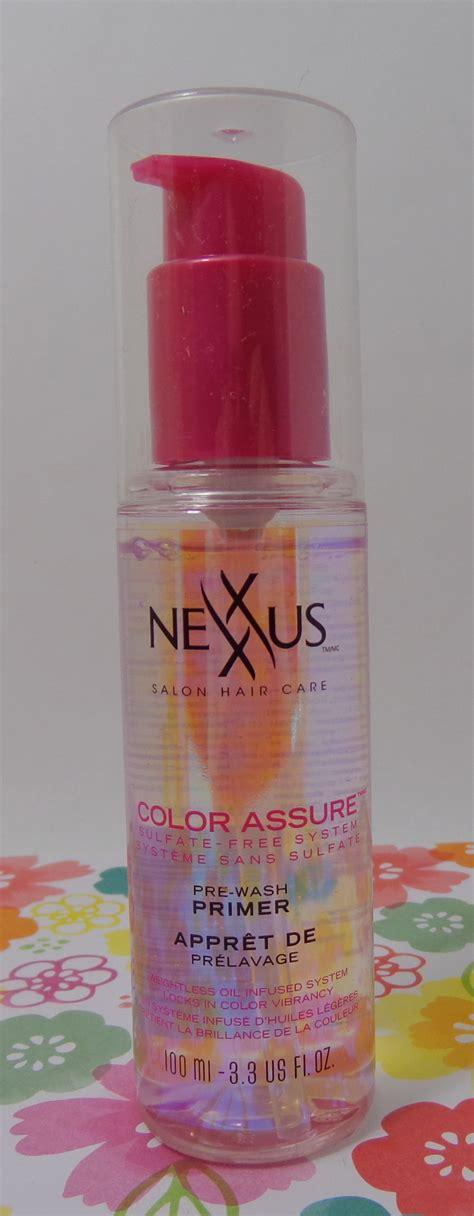 nexxus color assure pre wash primer review nexxus color assure sulfate free system for hair