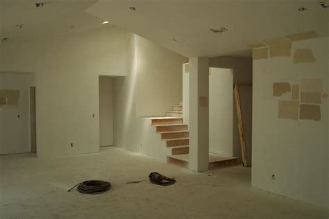 building house interior drywall installation pictures