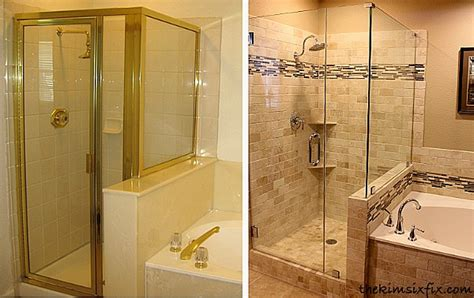 bathroom shower makeovers 10 more bathroom makeovers to check out hooked on houses