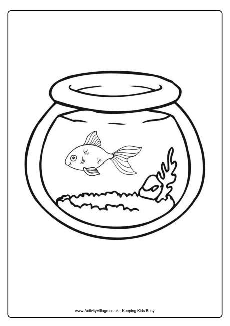 goldfish bowl coloring page goldfish bowl colouring page