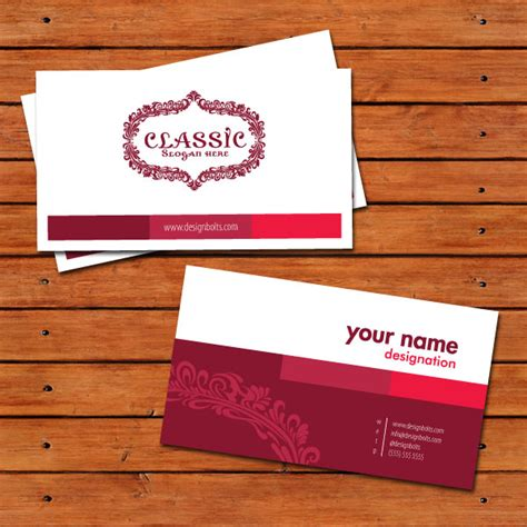 beautiful free business card design template in vector