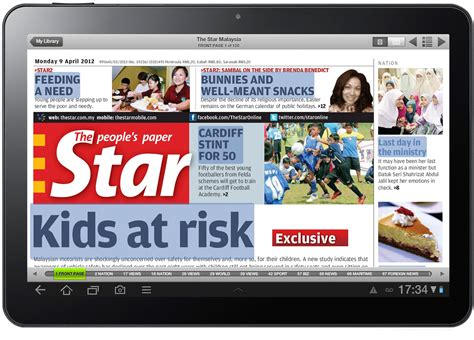 Samsung Tab 1 Tabloid Pulsa malaysia s largest tabloid newspaper the launches epaper powered by newspaperdirect