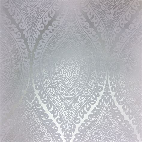 3d Wallpaper For Bedroom by Grandeco Kismet Silver Wallpaper A17703