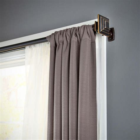 two curtain rods one window kenney mission 66 in 120 in telescoping 1 in double