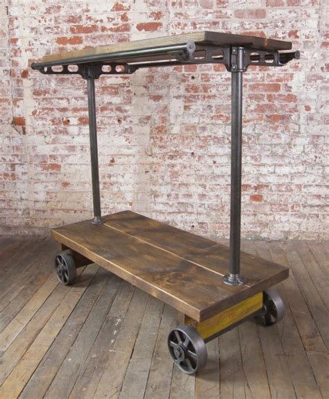 Industrial Clothing Rack by Industrial Garment Hanging Rack On Casters At 1stdibs