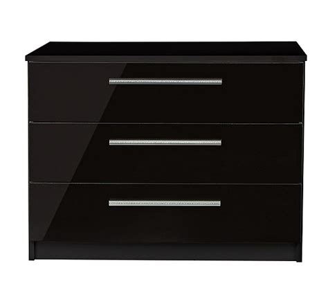 Black Chest Of Drawers Argos by Buy Collection Sparkle 3 Drawer Chest Black At Argos Co