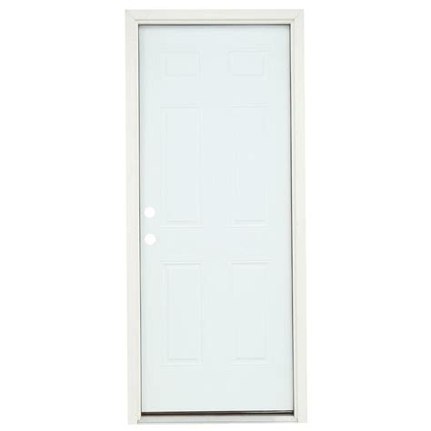 36 x 78 exterior door masonite 36 in x 80 in premium 6 panel primed steel