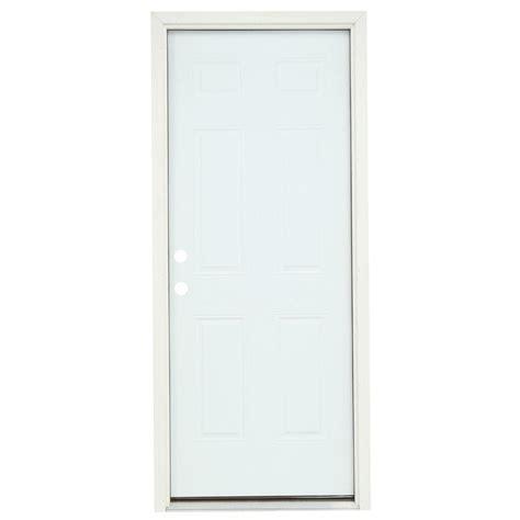 prehung steel exterior door masonite 36 in x 80 in premium 6 panel primed steel
