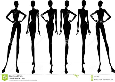 fashion illustration silhouettes runway model silhouette www pixshark images