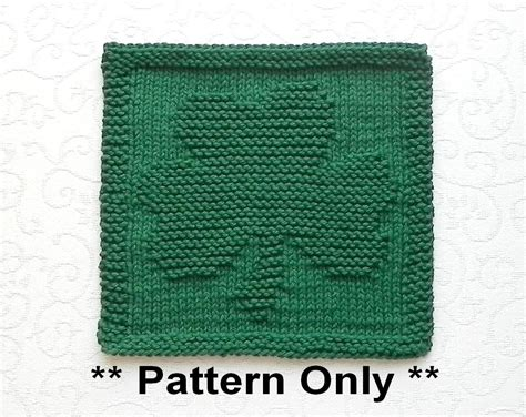 in knitting what does st st knit pattern for shamrock knit wash cloth dishcloth st