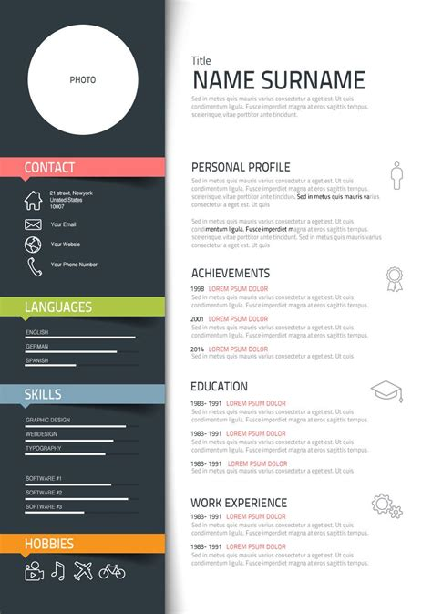 template design graphic graphic designer description personal profile desks