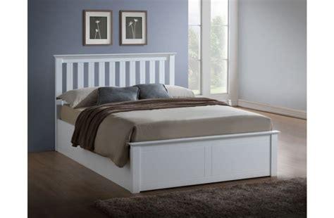 white ottoman bed small double birlea phoenix 4ft small double white ottoman lift wooden bed frame by birlea