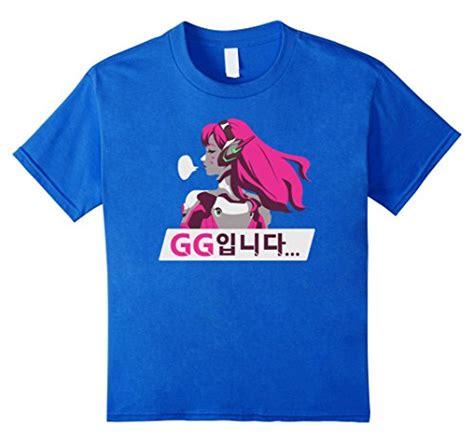 Tshirt Kaos Overwatch Gear Cloth overwatch d va gg spray t shirt overwatch merchant
