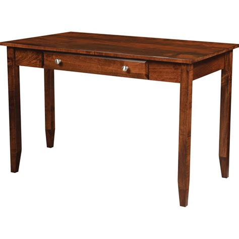 one drawer writing desk hton writing desk one drawer amish crafted furniture
