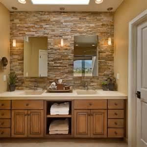 Stone Bathroom Ideas stacked stone bathroom ideas for the home pinterest