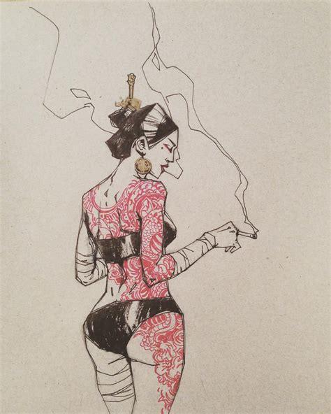 yakuza tattoo anime yakuza girl d art sketch drawing doodle sketchbook