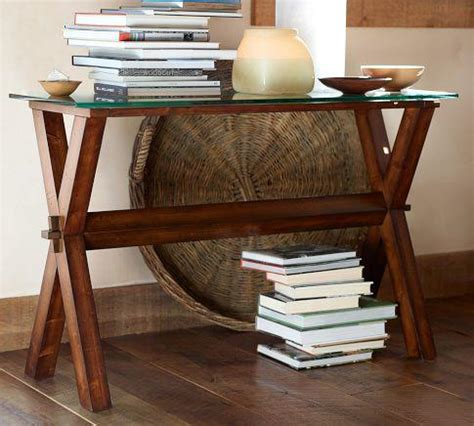 pottery barn sofa table wood console table espresso stain pottery barn