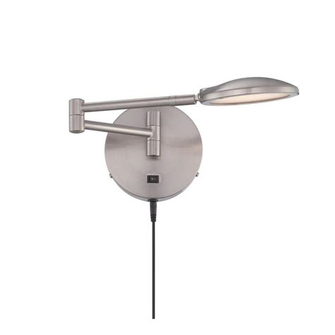 swing arm floor ls home depot filament design 1 light polished steel swing arm wall