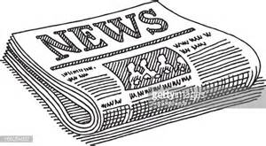 newspaper clipart newspaper drawing vector getty images